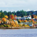 Poulsbo in the Fall by Mary Saurdiff